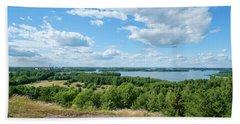 View To Lake Lohjanjarvi Beach Towel