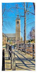 View To Mcgraw Tower Beach Towel