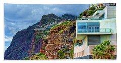 Viewpoint Over Camara De Lobos Madeira Portugal Beach Sheet