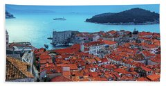 Views Of Dubrovnik, The Port And The Adriatic Sea Beach Towel