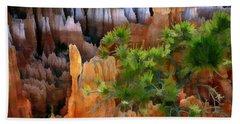 Views Of The Hoodoos In Bryce Canyon National Park Utah Beach Towel