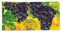 Vigne De Raisins Beach Towel by Debbie DeWitt
