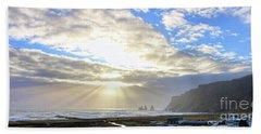 Vik Iceland Sunrays 7028 Crop Beach Towel