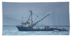 Beach Towel featuring the photograph Viking Fisher 3 by Randy Hall