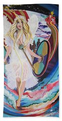 Viking Goddess Arrives In Egypt Beach Towel by Sigrid Tune