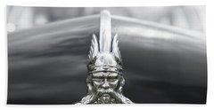Viking Hood Ornament II Beach Sheet by Helen Northcott