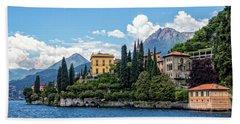 Villa Cipressi On Lake Como Beach Towel