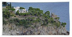 Villa Owned By Sophia Loren On The Amalfi Coast In Italy Beach Sheet