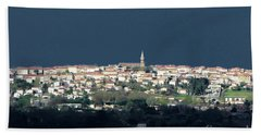 Village Before The Storm Beach Towel