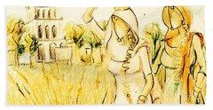 Punjabi Village Girls  Beach Towel