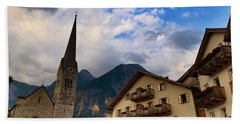 Beach Towel featuring the photograph Village Hallstatt by Jacqueline Faust