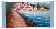 Villas By The Sea Beach Towel