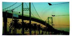 Vincent Thomas Bridge Beach Towel