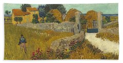 Vincent Van Gogh, Farmhouse In Provence Beach Towel