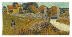 Vincent Van Gogh, Farmhouse In Provence Beach Sheet