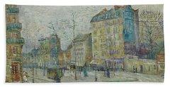 Vincent Van Gogh  The Boulevard De Clichy, Paris Beach Sheet