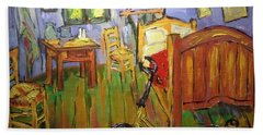 Vincent Van Go's Bedroom Beach Towel