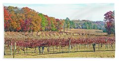 Vineyard In Autumn Beach Towel