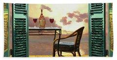 Vino Rosso Al Tramonto Beach Towel