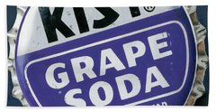 Vintag Bottle Cap, Grape Soda Beach Towel