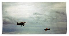 Vintage Airplanes Beach Sheet