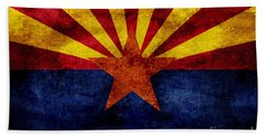 Vintage Arizona Flag Beach Towel by Jon Neidert