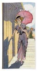 Vintage Art, Glamour Image Beach Towel