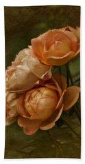 Vintage Aug Roses Beach Towel
