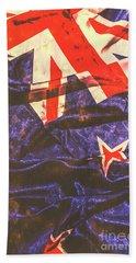 Vintage Kiwi Flag Beach Towel