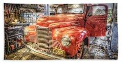 Vintage Auto Service Garage Beach Towel