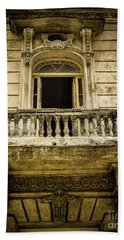 Vintage Balcony Cuba Beach Sheet by Perry Webster