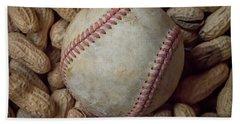 Vintage Baseball And Peanuts Square Beach Towel