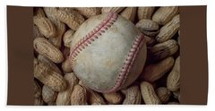 Beach Sheet featuring the photograph Vintage Baseball And Peanuts Square by Terry DeLuco