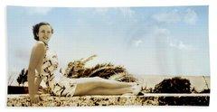 Vintage Beach Beauty Beach Towel