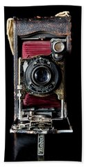 Vintage Bellows Camera Beach Towel