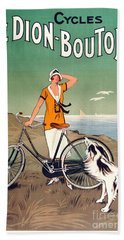 Vintage Bicycle Advertising Beach Towel