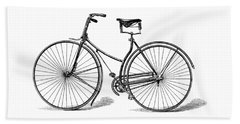 Beach Sheet featuring the digital art Vintage Bike by ReInVintaged