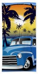 Vintage Blue Advance-design Series 1948 Chevrolet Pick Up Truck 48 Chevy Pickup Truck  Beach Towel