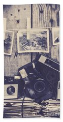 Vintage Camera Gallery Beach Towel