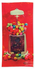Vintage Candy Store Gum Ball Machine Beach Sheet
