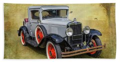 Beach Sheet featuring the photograph Vintage Chev by Keith Hawley