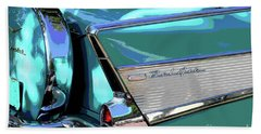 Beach Towel featuring the photograph Vintage Chevrolet Belair by The Art of Alice Terrill