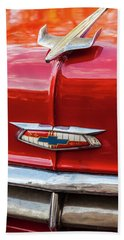 Beach Sheet featuring the photograph Vintage Chevy Hood Ornament Havana Cuba by Charles Harden