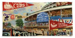 Vintage Chicago Cubs Beach Towel