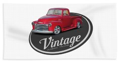 Vintage Classic Trucks Beach Towel
