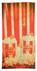Vintage Classical Cinema Interval Concept Beach Towel