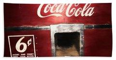 Vintage Coca Cola Vending  Beach Towel