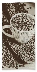 Beach Towel featuring the photograph Vintage Coffee Art. Stimulant by Jorgo Photography - Wall Art Gallery