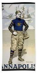 Vintage College Football Annapolis Beach Sheet by Pd