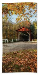 Beach Towel featuring the photograph Vintage Covered Bridge by Dale Kincaid